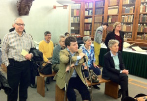 Pembrokians treated to talk in Library of Congress special collections room
