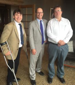 Professors Cole and Claus Visit Boston